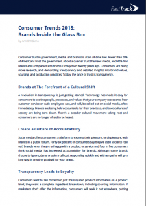Consumer Trends 2018 - Brands Inside the glass box